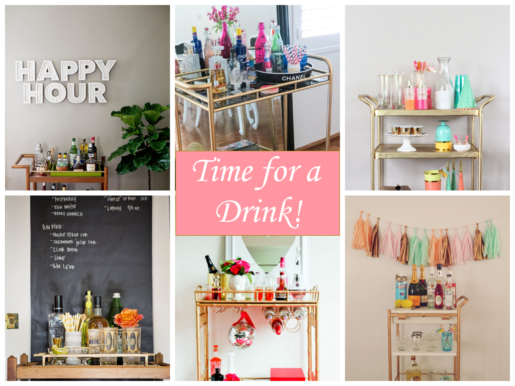 ever since gatsby and mad men became popular bar carts have been all the rage i love the idea of bringing vintage pieces such as bar carts back into style - How To Style A Bar Cart