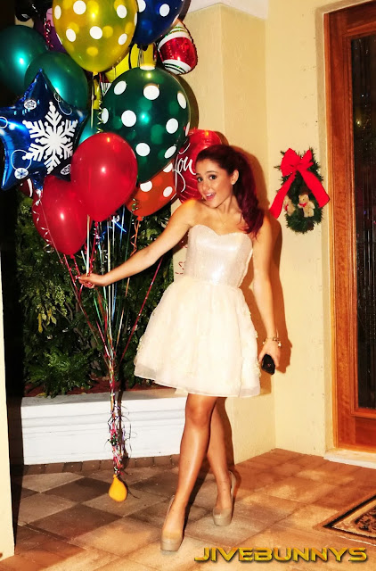 Ariana Grande in Beautiful Holy Christmas Night Strapless Bubble