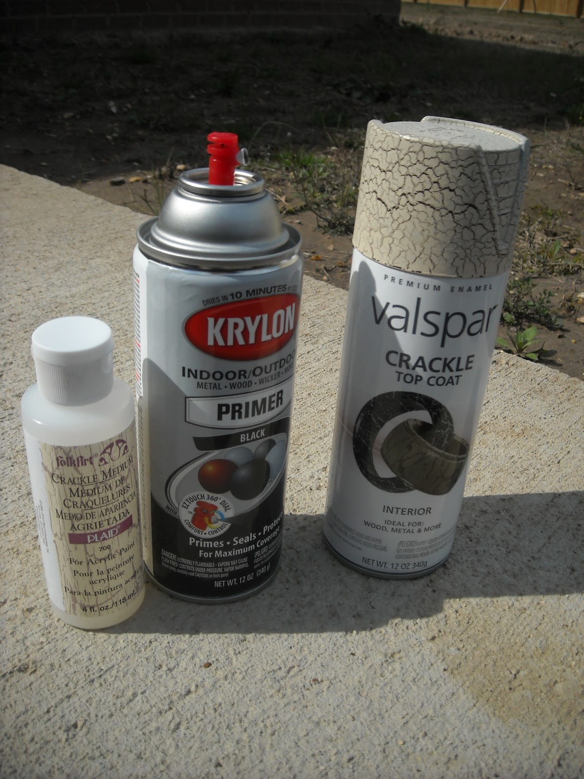 spray paint base coat i used black crackle medium and spray paint. Black Bedroom Furniture Sets. Home Design Ideas