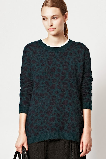 leopard blue jumper