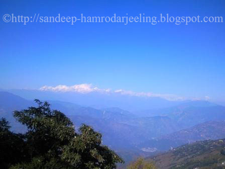 view of Kanchenjunga from Darjeeling