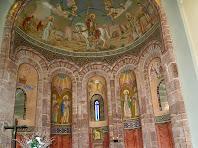 Detall de l'interior de Sant Martí del Brull