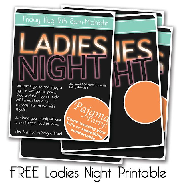 ladies night invitations - photo #22