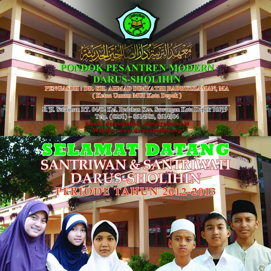 PONDOK PESANTREN MODERN      DARUS-SHOLIHIN
