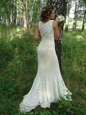 el ganchillo engancha: vestido de novia a crochet