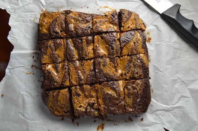 Biscoff Swirl Brownies
