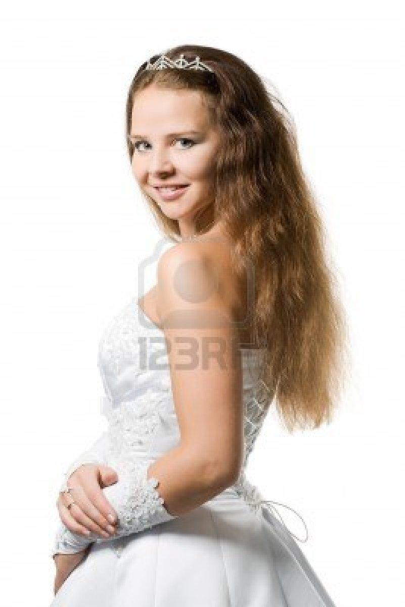 pelo largo novia por correo semen en la cara