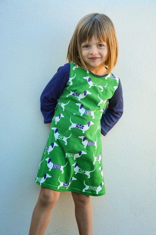 Aesthetic Nest Sewing Dachsund Game Day Jersey Dress