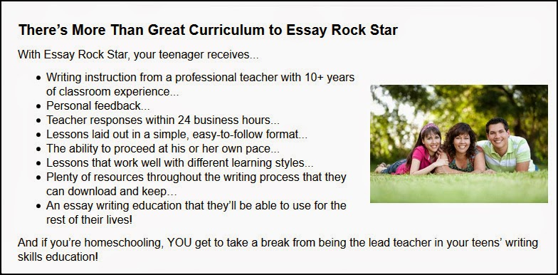 Essay Rock Star Expository Essay writing course review, for kids ages 12-18