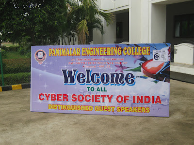 Cyber Security workshop at Panimalar College, Chennai