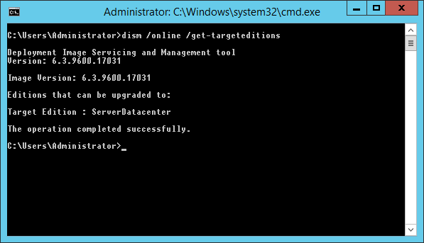 Informacja do jakiej wersji można podnieść obecną wersję Windows