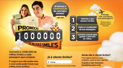 """PROMOÇÃO GOL 2012 """"1 MILHÃO DE MILHAS SMILES"""""""