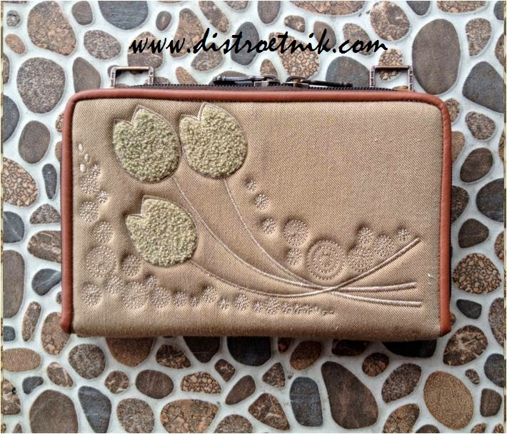 dompet jeans it just we bordir series tulips
