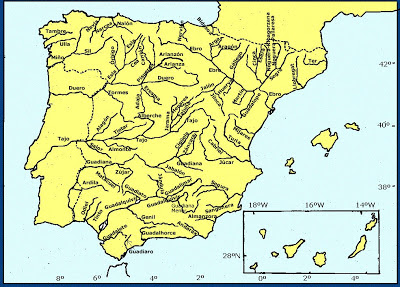 mapa espana rios