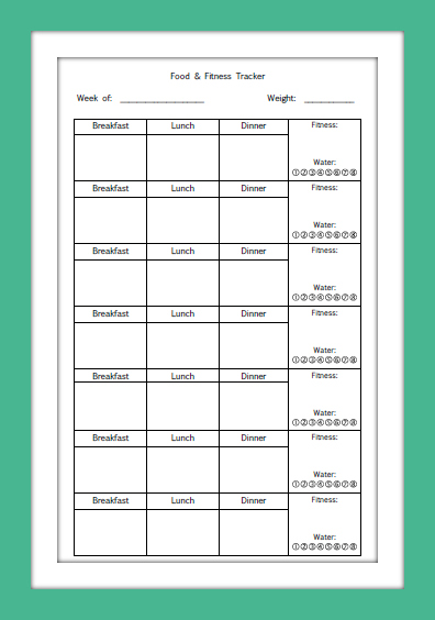 Planner Fun Plus: Fitness Tracker [printable]