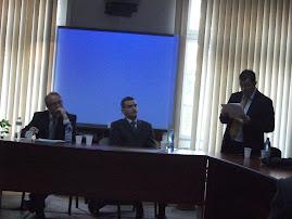 Zilele UAIC, aspect din timpul comunicării Prof. univ. dr. Lucreţiu Bârliba, 26.10.2012...