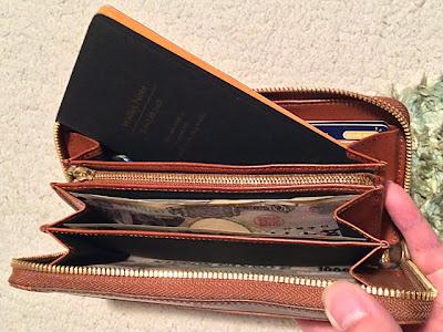 ウォレットノートは長財布にぴったり