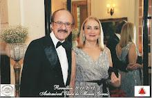 Suely e Antônio Claret Guerra, os anfitriões do evento que celebra os 27 anos do Jornal MG Turismo
