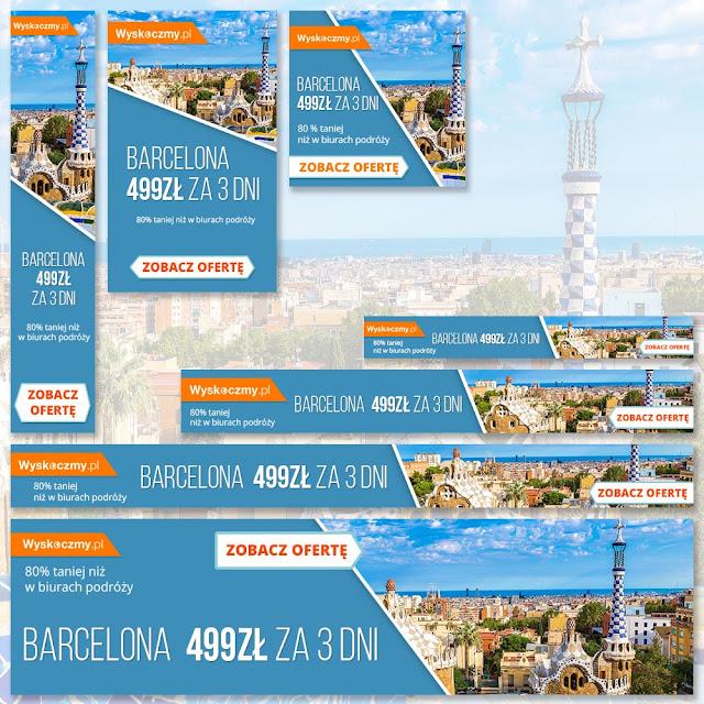 Banery reklamowe Google - Barcelona