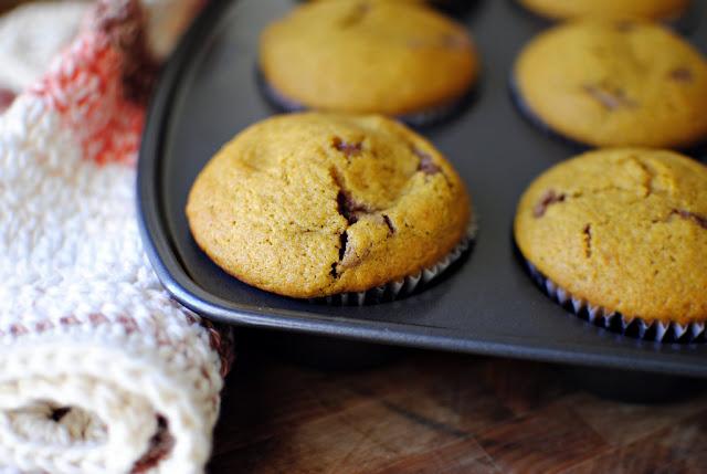 Nutella Cheesecake Pumpkin Muffins l SimplyScratch.com