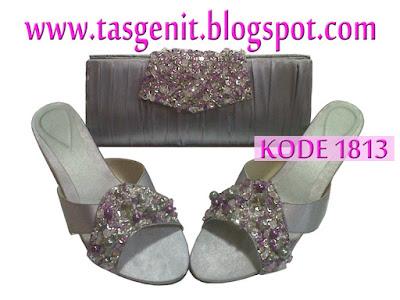 clutch bag cantik, dompet pesta payet, sepatu pesta cantik, sepatu pesta silver, clutch bag silver