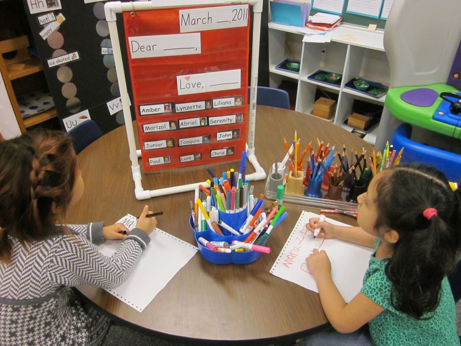 kindergarten writing center ideas
