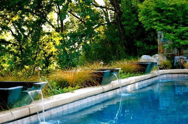 design the pool with unique waterfall | Outdoor Furniture in Vietnam