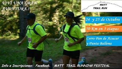 MATT - Trail running festival en parejas (Cerro Pan de Azúcar y Punta Ballena, 24y25/oct/2015)
