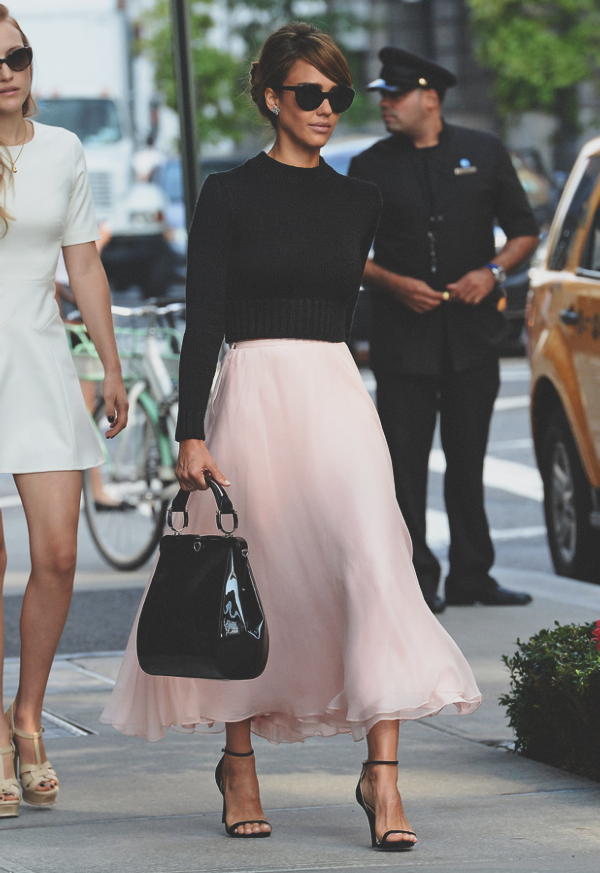 {fashion | style inspiration : ballerina girl - jessica alba}