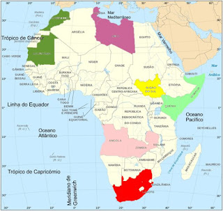 Continente africano | www.professorjunioronline.com