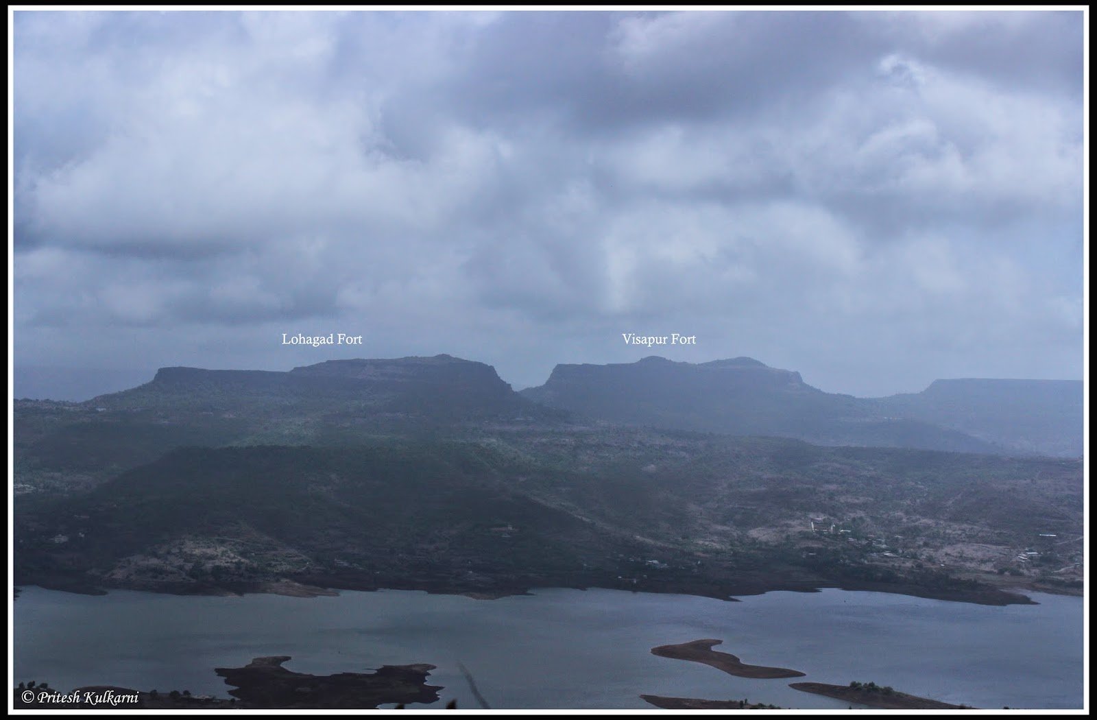 Lohagad and Visapur Fort from Tung