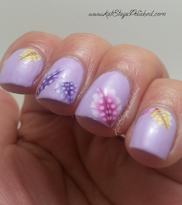 Born Pretty Store - 11-pc Feather Nail Art Water Decals | JulieG Fairytale