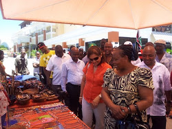 Mrs Joyce Ogundo Director, Department of  Trade with MSE CEO Mr. Richard Muteti