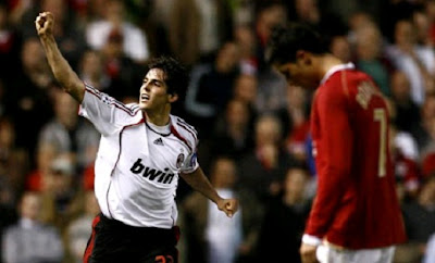 Ricardo Kaka vs Cristiano Ronaldo at Old Trafford 2007