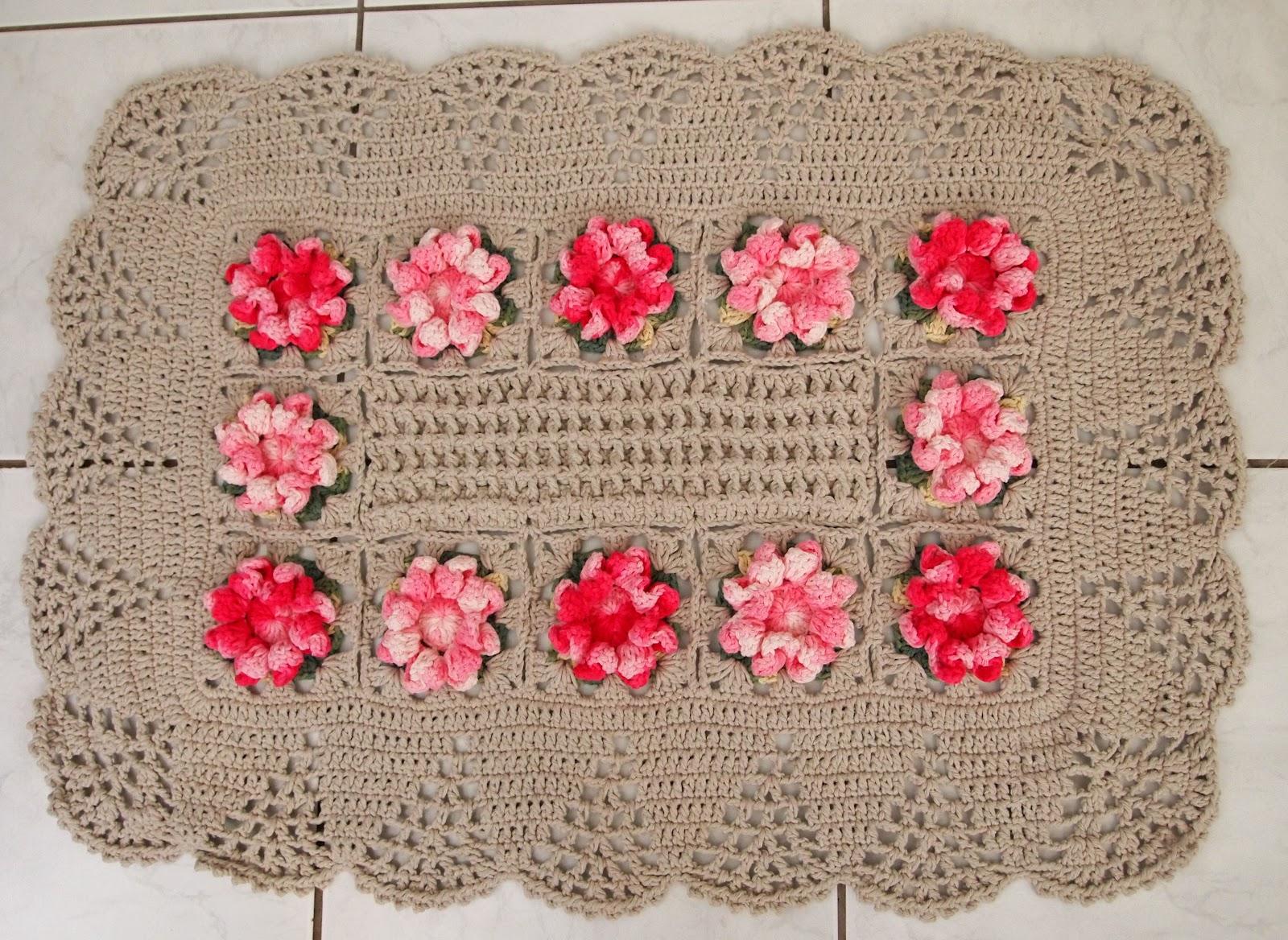 os croches da elsa tapete flor caramujo. Black Bedroom Furniture Sets. Home Design Ideas