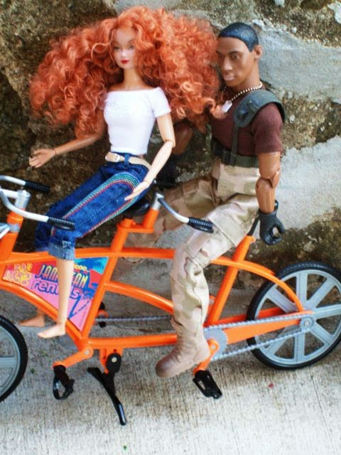 R&D Susie, M&C Power Team guy, Mattel My Scene bicycle for two