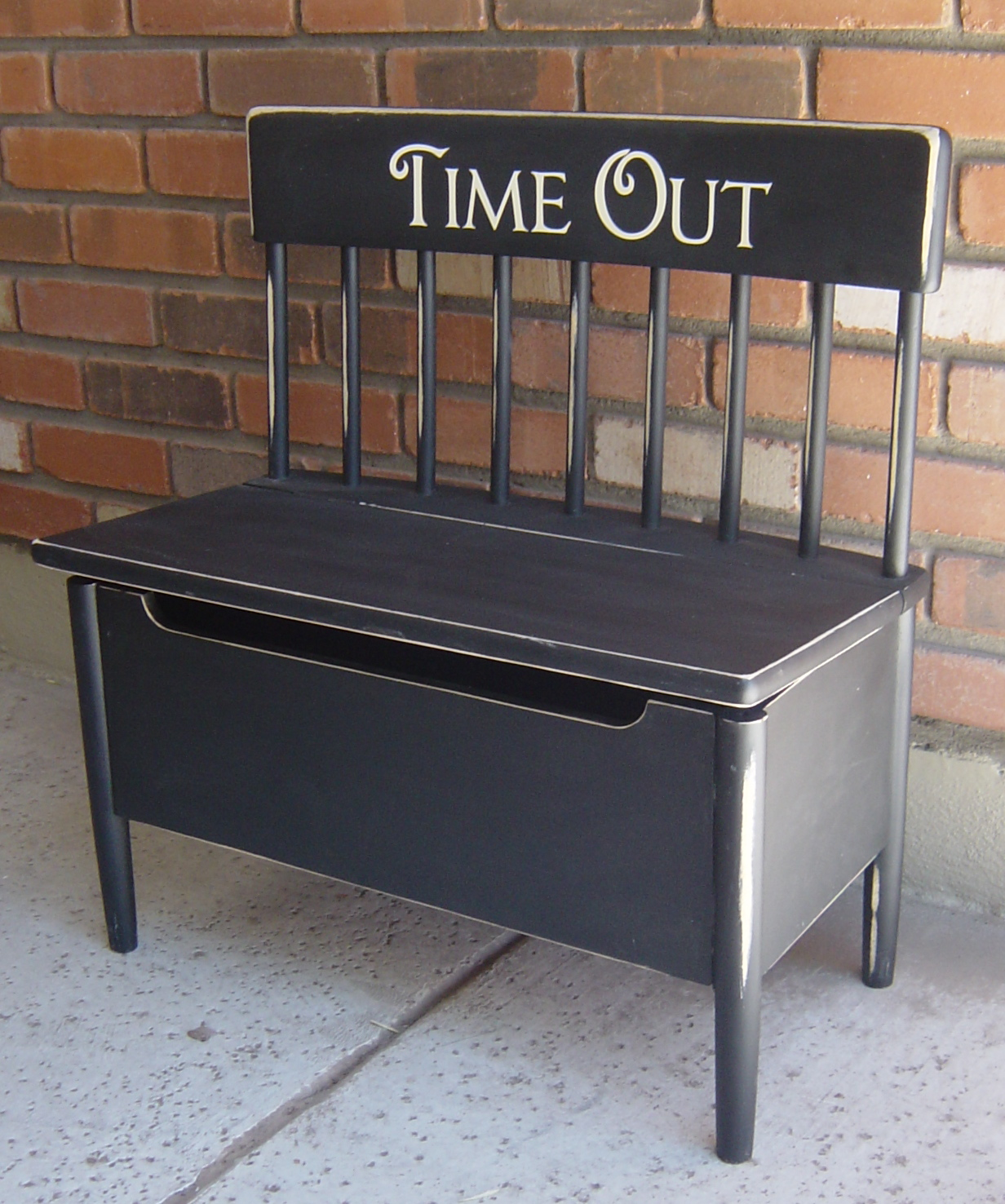 The Backyard Boutique By Five To Nine Furnishings Black Distressed Time Out Bench