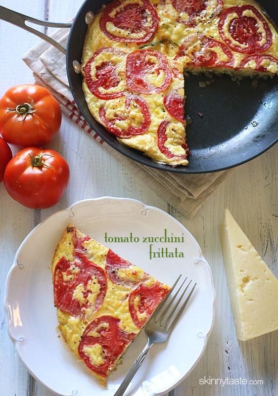 Tomato and Zucchini Frittata   Skinnytaste