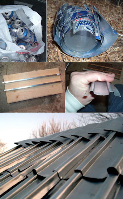 DIY recycling and roofing for beer drinkers!
