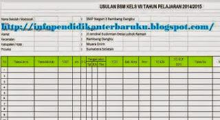 Download Format BSM Terbaru 2014
