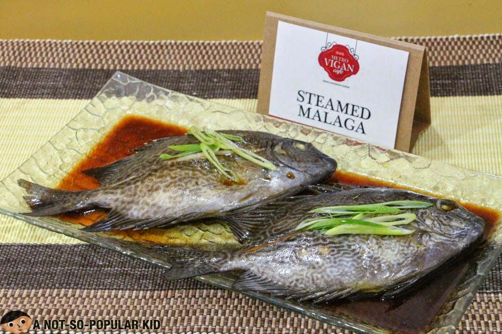 Steamed Malaga - a delicious fish dish by Metro Vigan Cafe