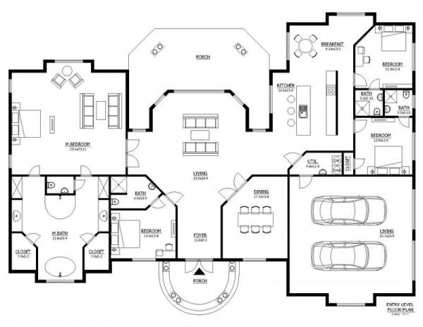 Planos de casas modelos y dise os de casas planos de for Planos de viviendas de un piso