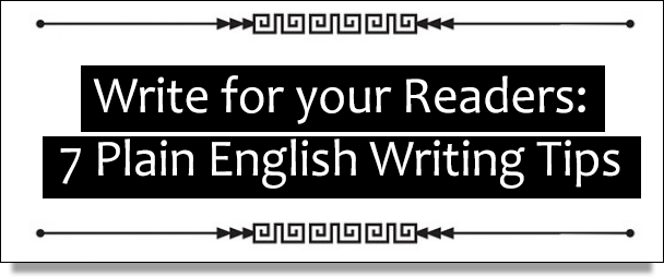 7 Plain English Writing Tips