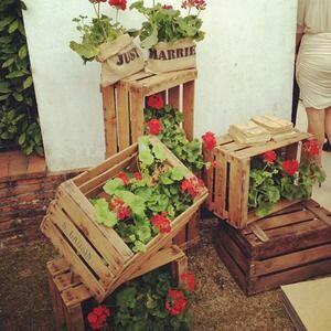 Cuqui thing cajas de fruta como decoraci n de boda - Cajas de fruta decoracion ...