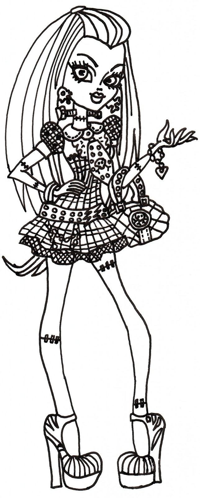 free printable monster high coloring sheet for frankie stein