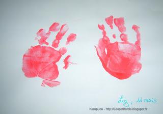 Activité créative empreinte de mains