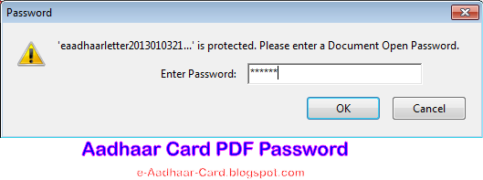 Aadhaar Card PDF Password