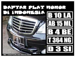 PLAT NOMOR DI INDONESIA