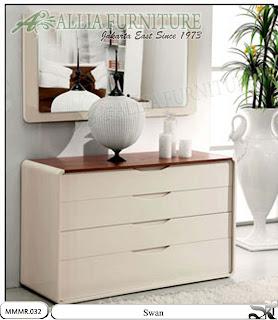 Meja rias make up model minimalis Swan