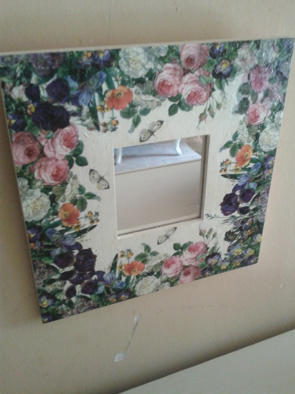 Malma del ikea con decoupage aprender manualidades es for Decoupage con servilletas en muebles
